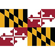 Sola Maryland State Flag Beach Towel