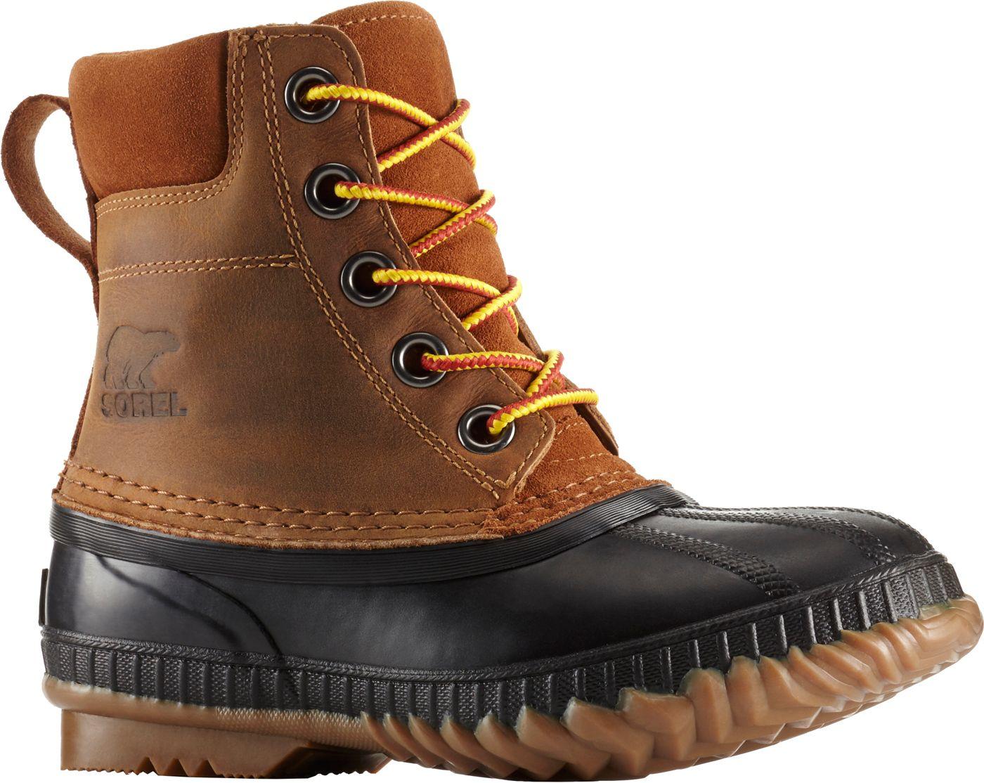 SOREL Kids' Cheyanne II Leather 200g Waterproof Winter Boots