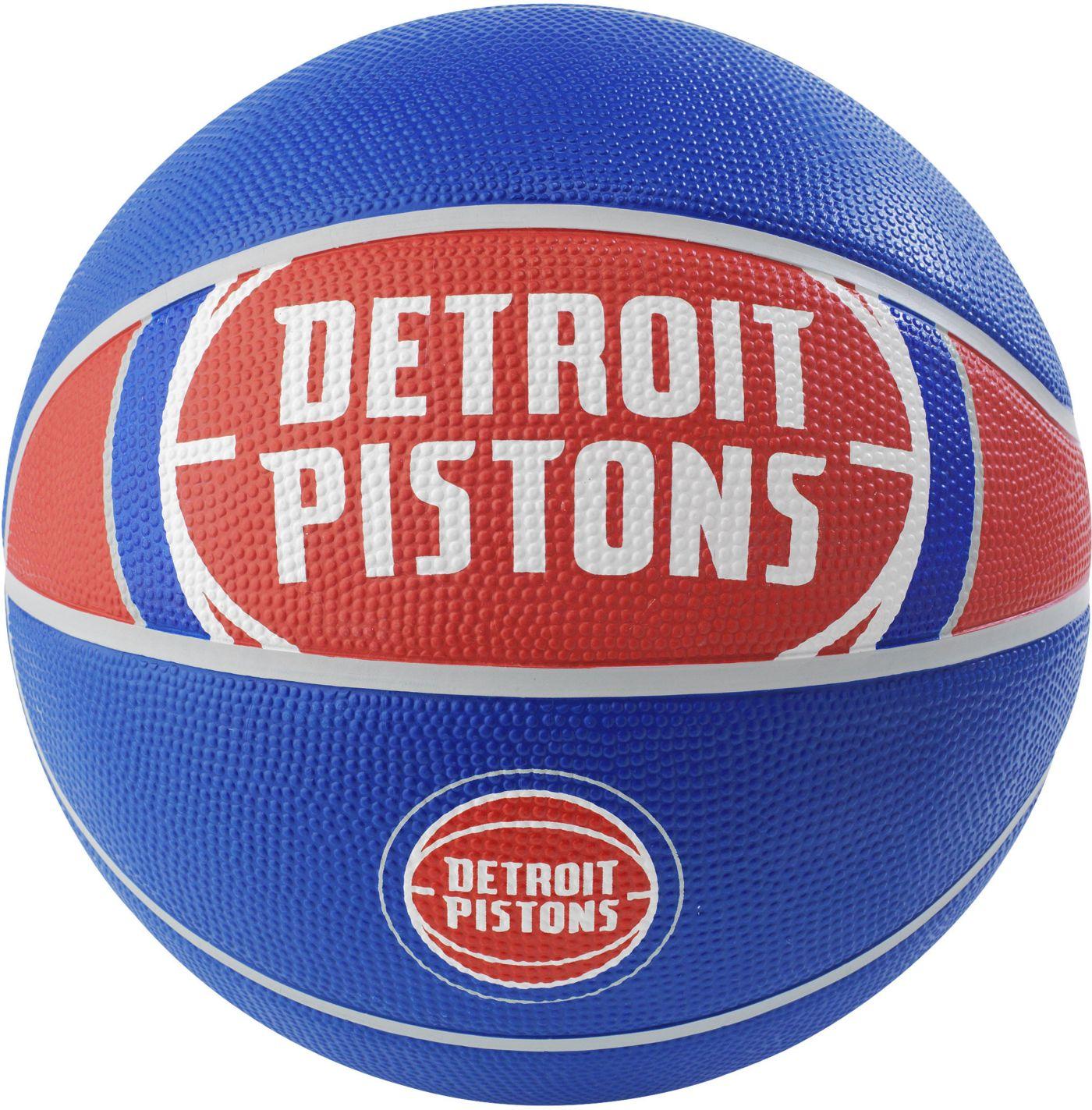 Spalding Detroit Pistons Full-Sized Court Side Basketball