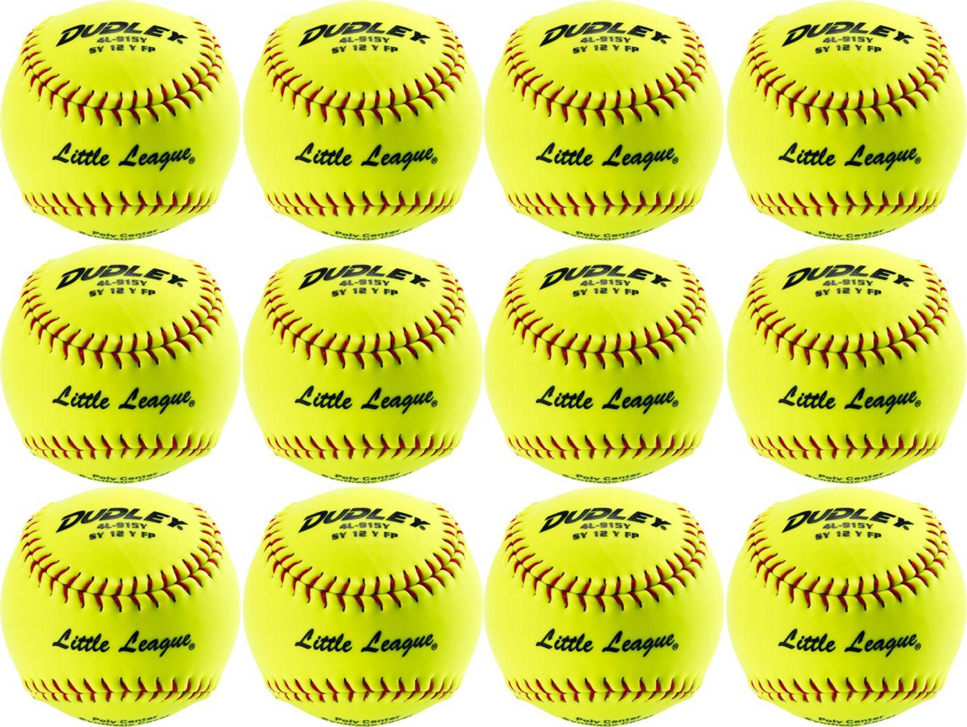 Dudley Little League 12'' Softballs - 12 Pack