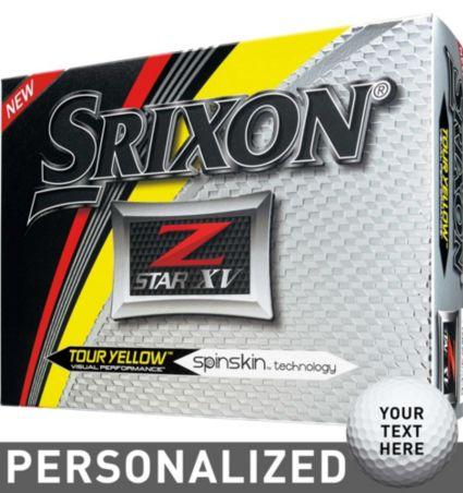 Srixon Z-STAR XV Tour Yellow Personalized Golf Balls