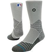 Stance MLB Diamond Pro On-Field Grey Sock