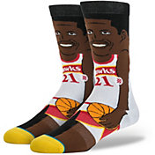 Stance Men's Atlanta Hawks Dominique Wilkins Cartoon Crew Socks