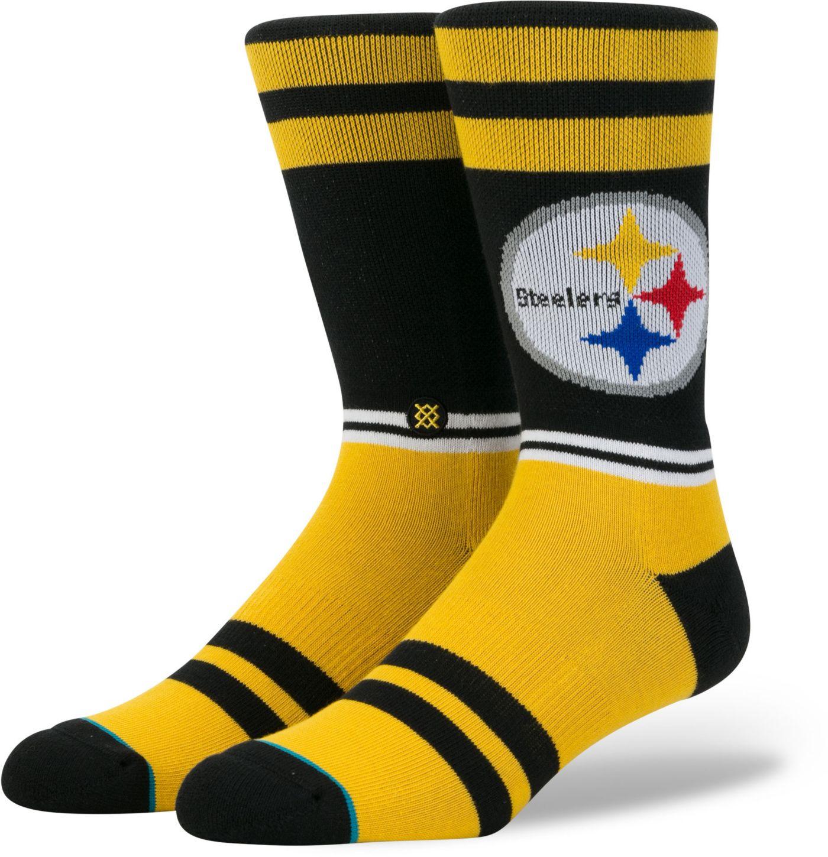 Stance Men's Pittsburgh Steelers Sideline Crew Socks