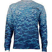 Salt Life Men's Metal Seas SLX UVapor Performance Long Sleeve Shirt