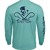 Salt Life Men's Skull and Hooks Long Sleeve Shirt