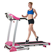 Sunny Health & Fitness Pink Inclining Treadmill