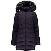 Spyder Women's Syrround Long Faux Fur Down Jacket