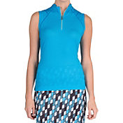 Tail Women's Cozumel Sleeveless Mini Mock Neck Golf Polo