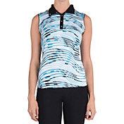 Tail Women's Drift Printed Convertible Collar Golf Polo