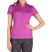 Tail Women's Trimmed Mock Neck Golf Polo