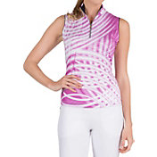 Tail Women's Vitality Mock Neck Sleeveless Golf Polo