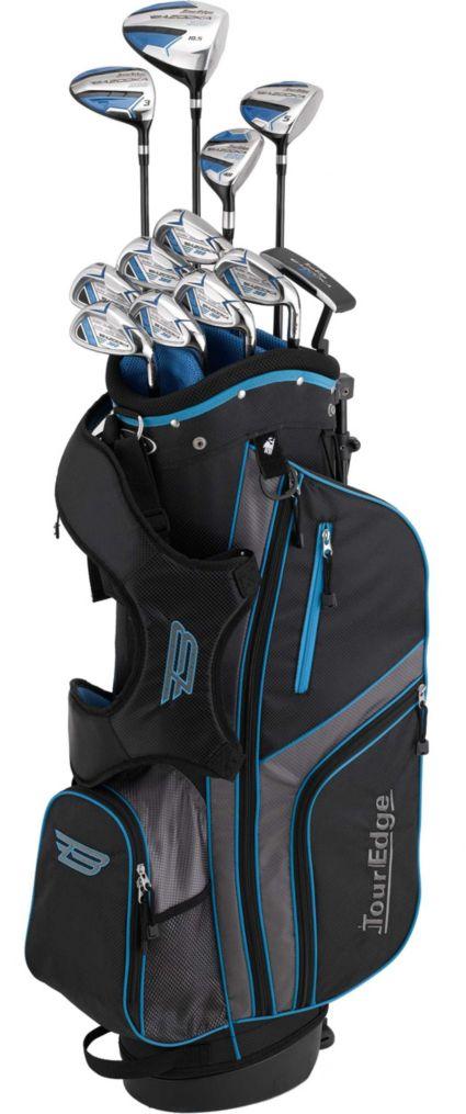 Tour Edge Senior Bazooka 360 Graphite 17-Piece Complete Set – Black/Blue