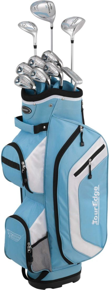 Tour Edge Women's Bazooka 260 14-Piece Complete Set – Light Blue