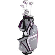 Tour Edge Women's Lady Edge 11-Piece Starter Set – Silver/Purple