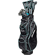 Tour Edge Women's Moda Silk 17-Piece Complete Set – Black/Sea Green