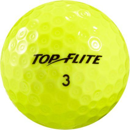 Top Flite D2+ Feel Yellow Golf Balls – 15 Pack
