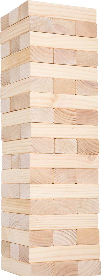 Hey Play Classic Giant Wooden Blocks Tower Stacking Game