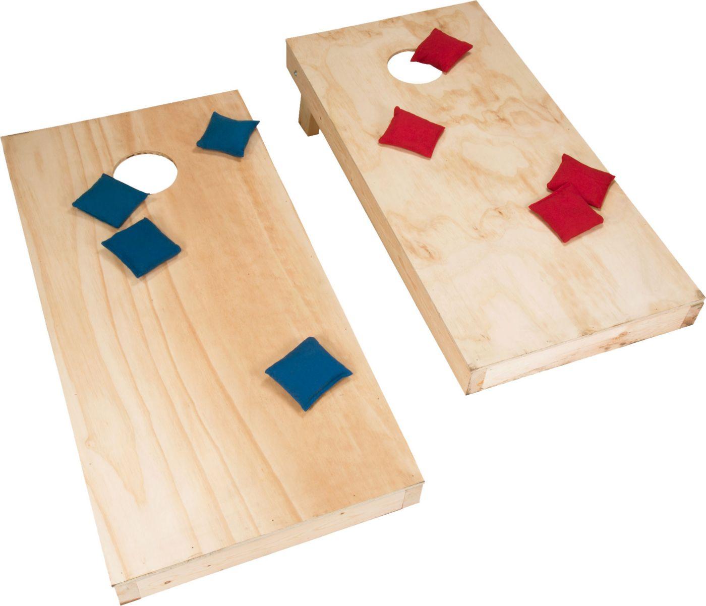 Hey! Play! Unfinished Cornhole Set