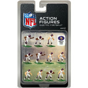 Tudor Games Minnesota Vikings White Uniform NFL Action Figure Set