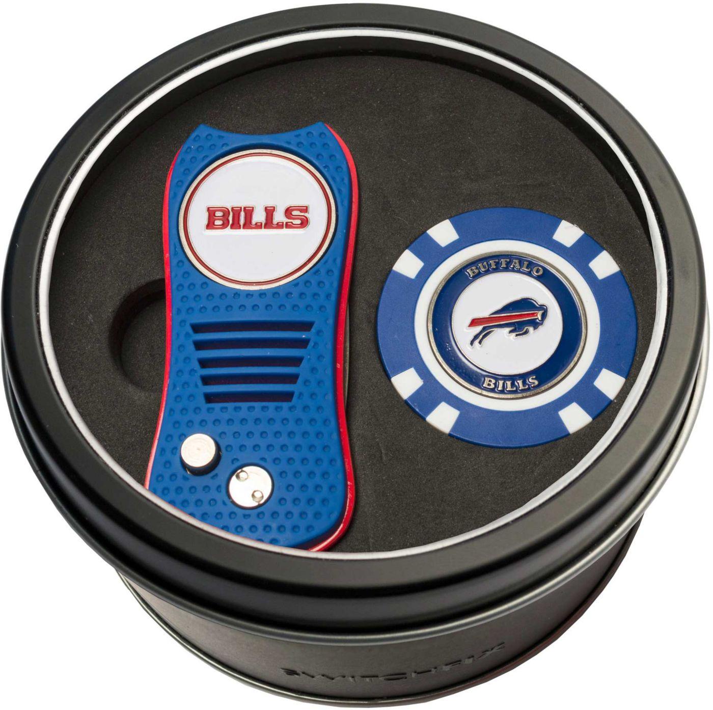 Team Golf Buffalo Bills Switchfix Divot Tool and Poker Chip Ball Marker Set