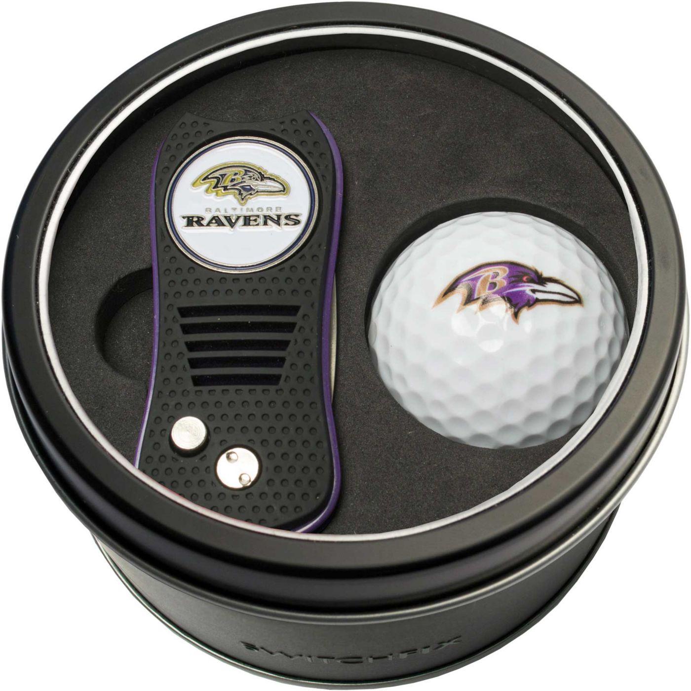 Team Golf Baltimore Ravens Switchfix Divot Tool and Golf Ball Set