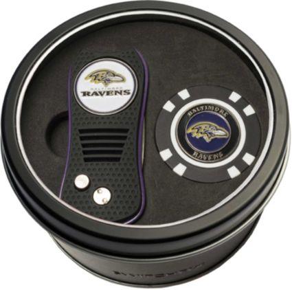 Team Golf Baltimore Ravens Switchfix Divot Tool and Poker Chip Ball Marker Set