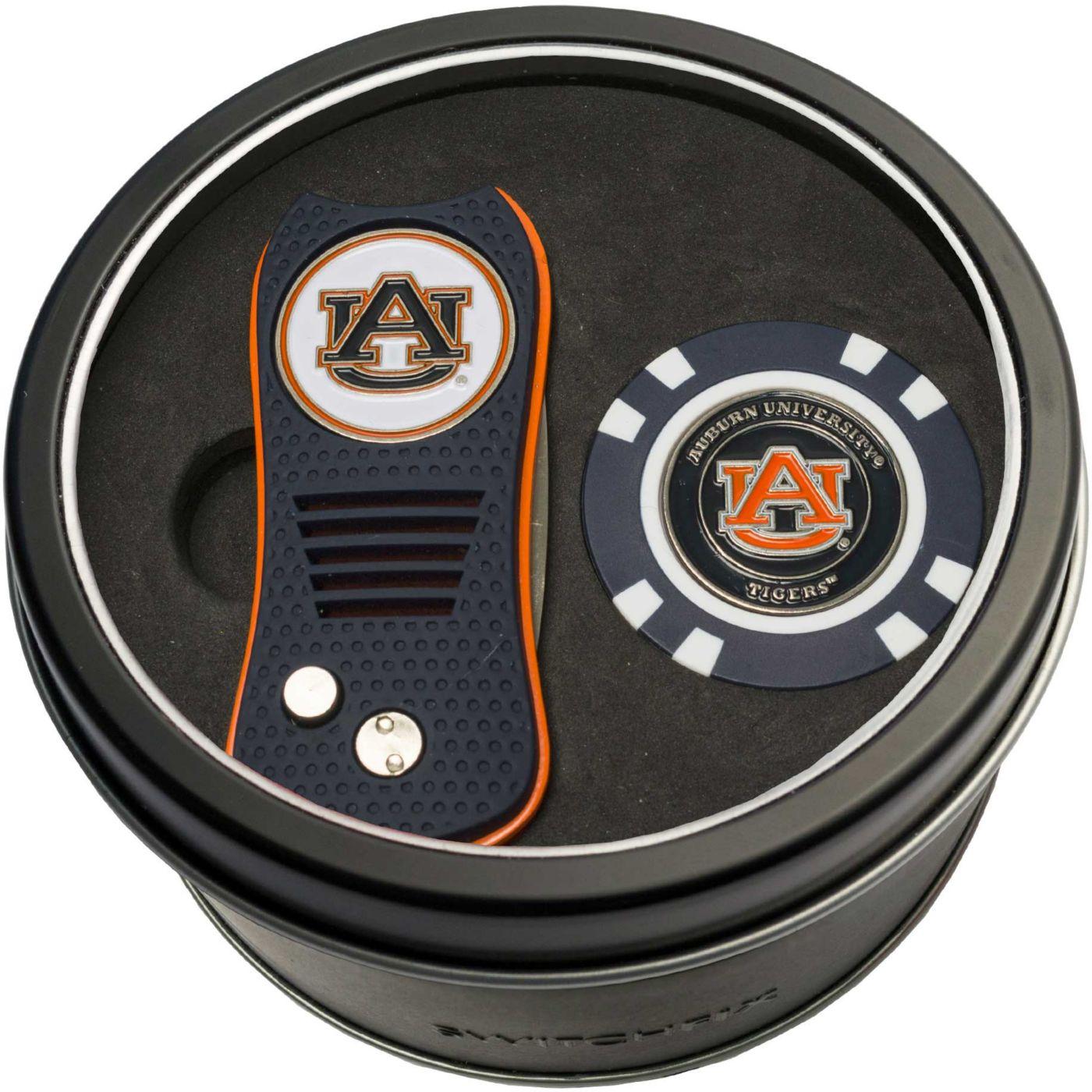 Team Golf Auburn Tigers Switchfix Divot Tool and Poker Chip Ball Marker Set