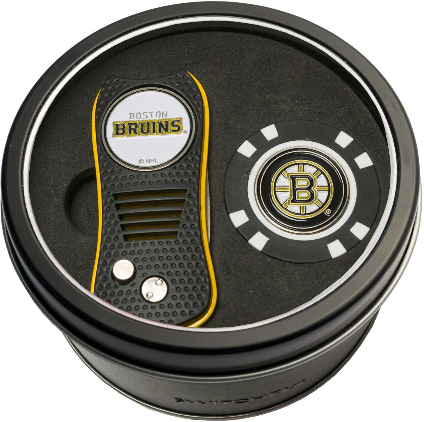 Team Golf Boston Bruins Switchfix Divot Tool and Poker Chip Ball Marker Set