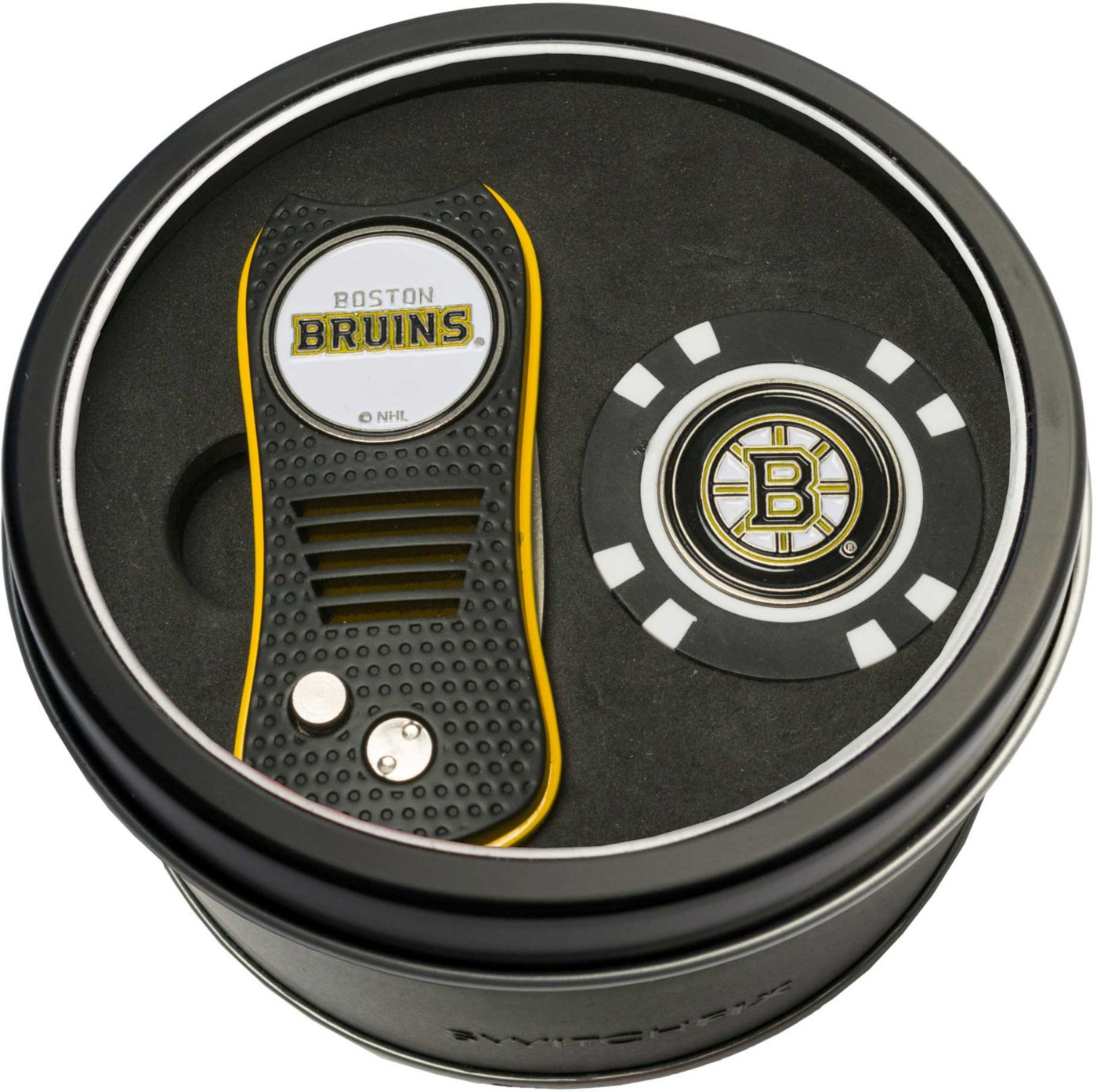 Team Golf Boston Bruins Switchfix Divot Tool and Poker Chip Ball Marker Set