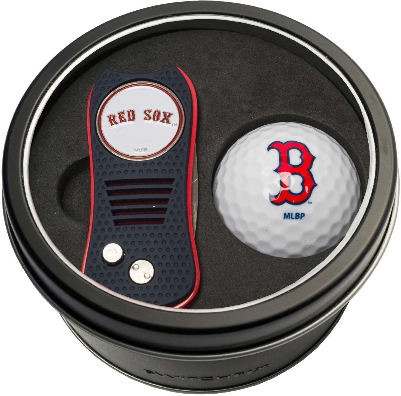 Team Golf Boston Red Sox Switchfix Divot Tool and Golf Ball Set