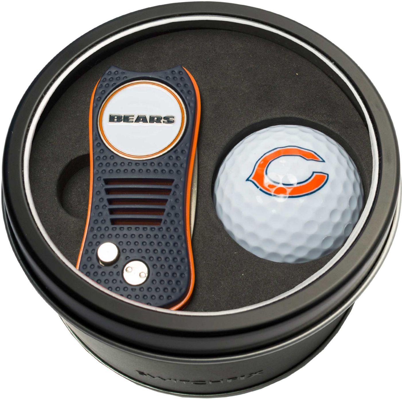Team Golf Chicago Bears Switchfix Divot Tool and Golf Ball Set