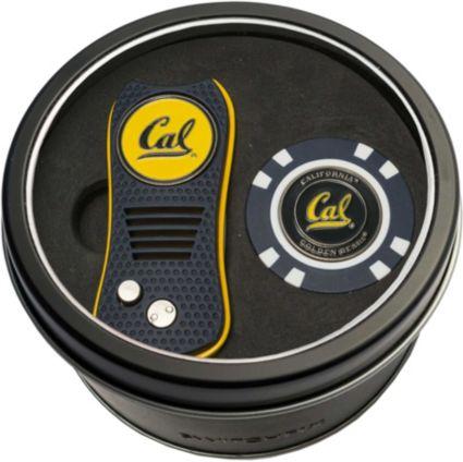 Team Golf CalBears Switchfix Divot Tool and Poker Chip Ball Marker Set