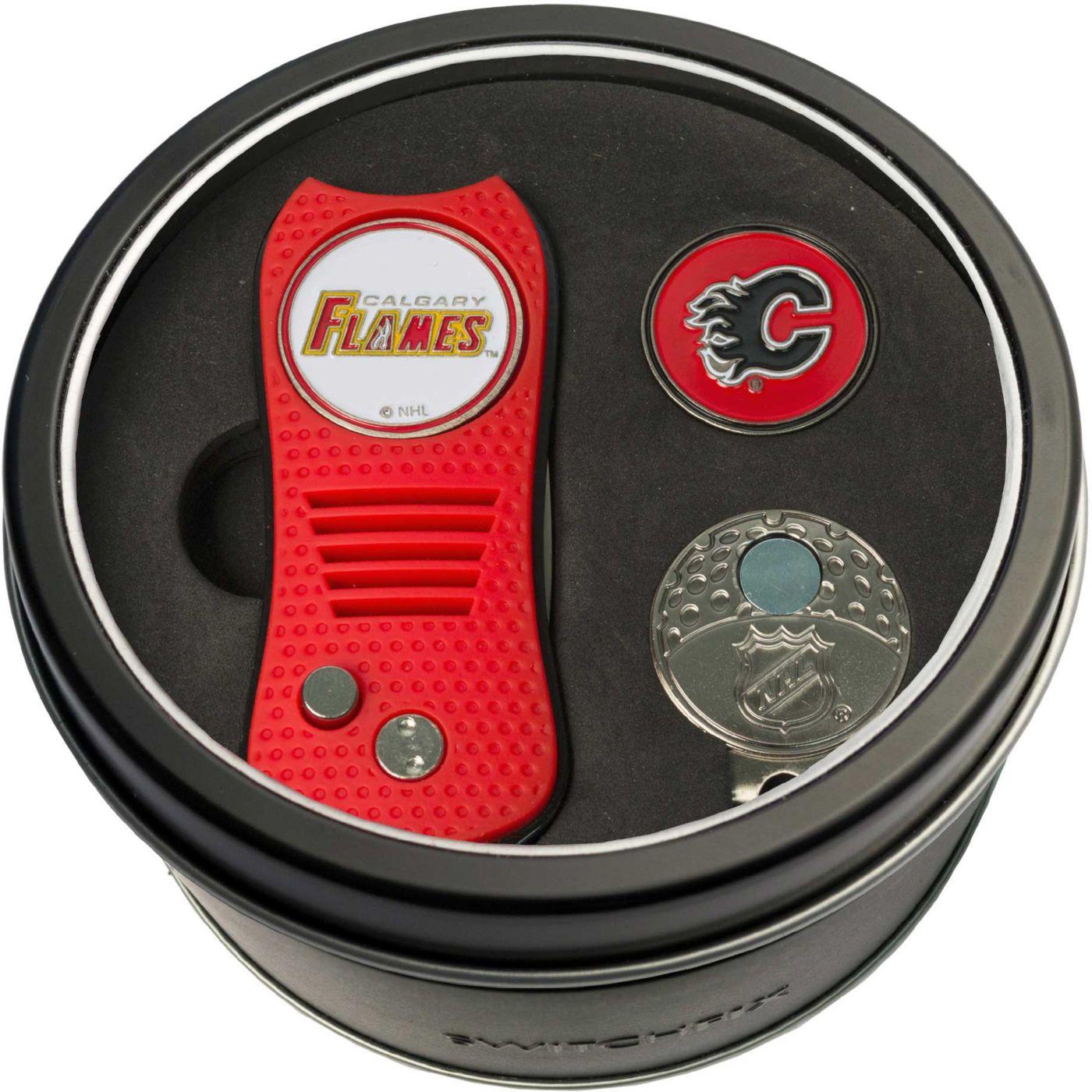 Team Golf Calgary Flames Switchfix Divot Tool and Cap Clip Set