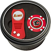Team Golf Calgary Flames Switchfix Divot Tool and Poker Chip Ball Marker Set