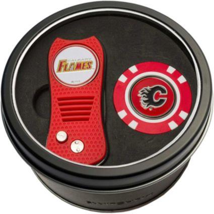 Team Golf Calgary Flames Switchfix Divot Tool and Poker Chip Ball Marker Set