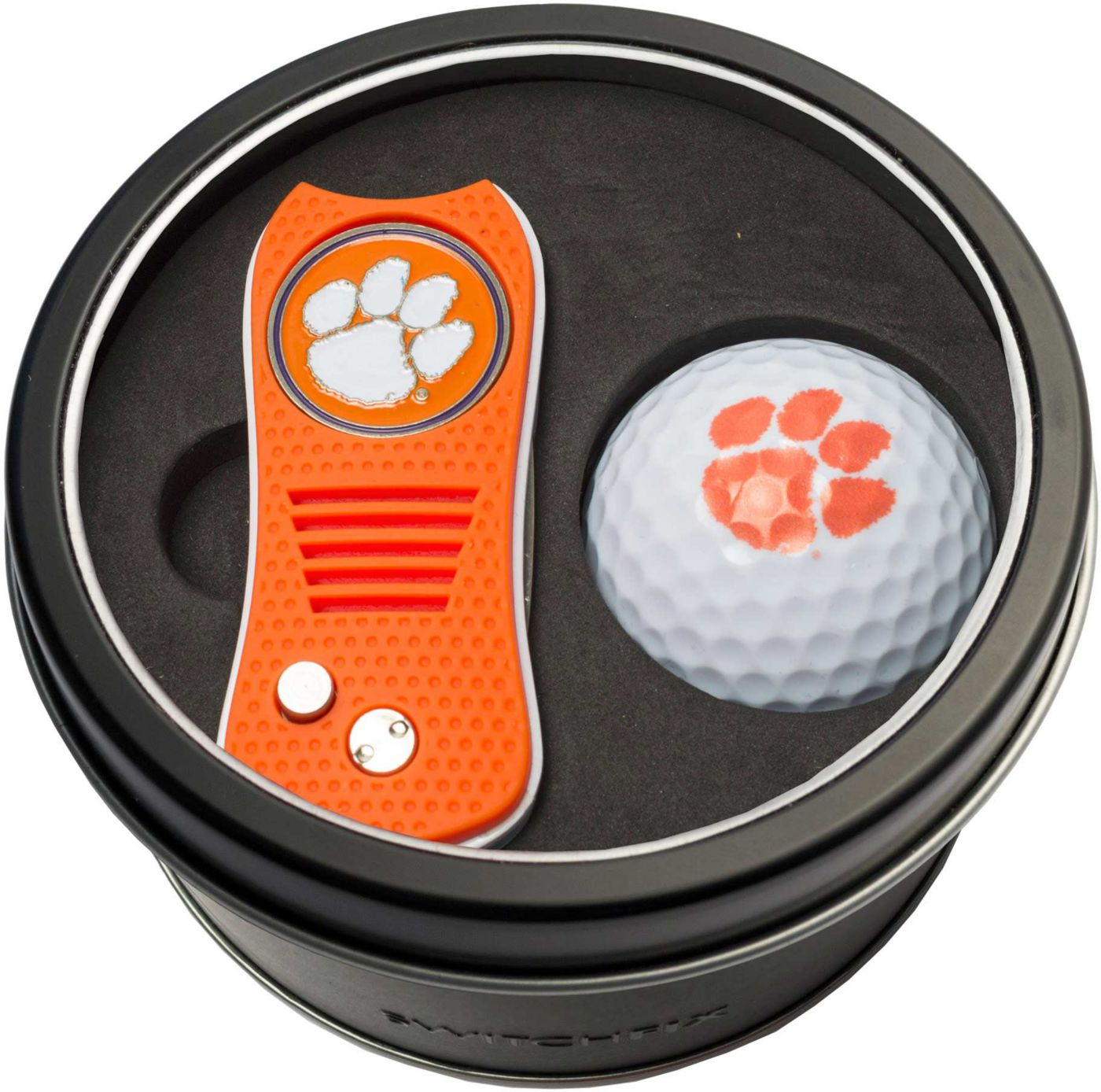Team Golf Clemson Tigers Switchfix Divot Tool and Golf Ball Set