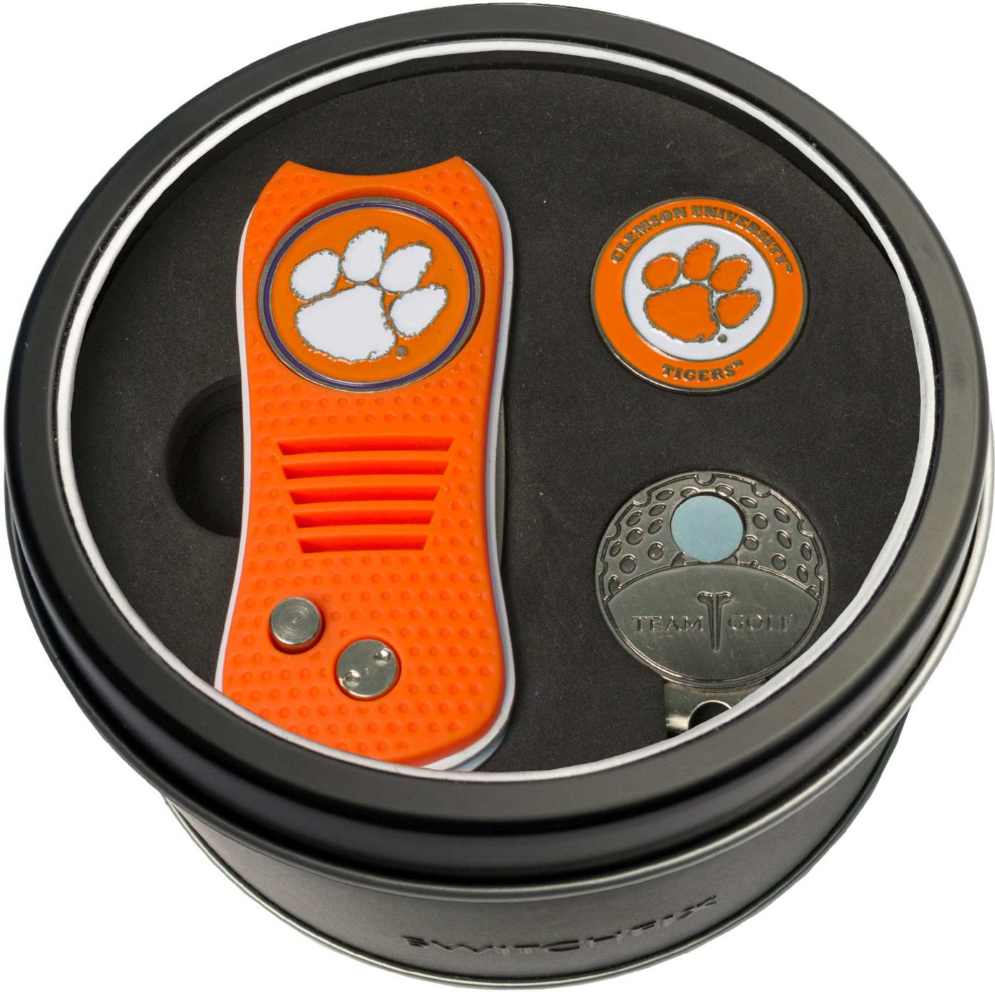 Team Golf Clemson Tigers Switchfix Divot Tool and Cap Clip Set