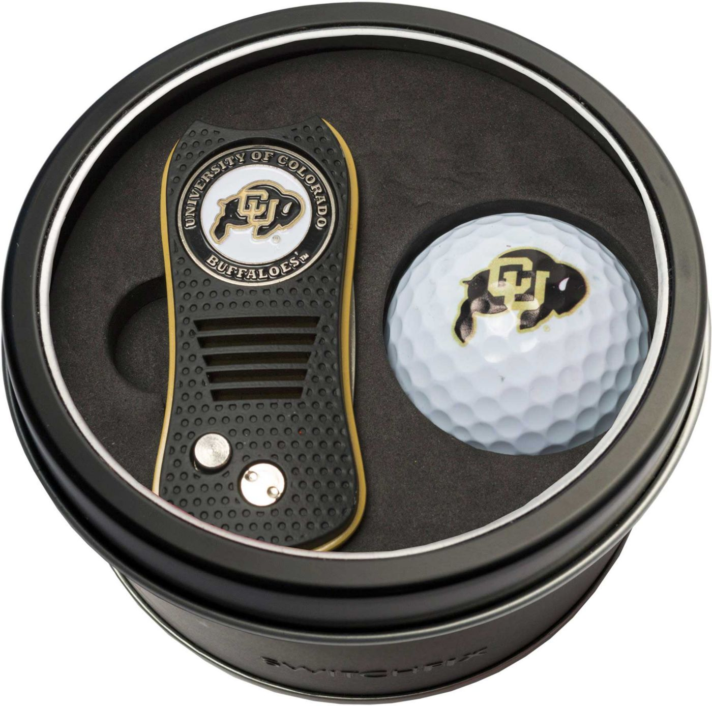 Team Golf Colorado Buffaloes Switchfix Divot Tool and Golf Ball Set