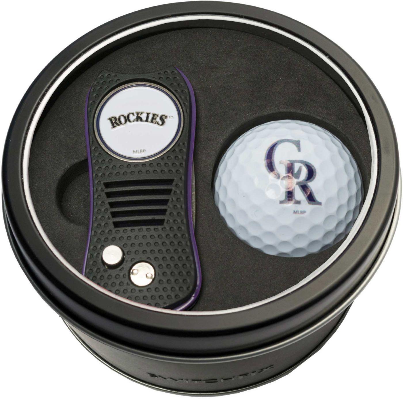 Team Golf Colorado Rockies Switchfix Divot Tool and Golf Ball Set