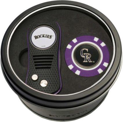 Team Golf Colorado Rockies Switchfix Divot Tool and Poker Chip Ball Marker Set