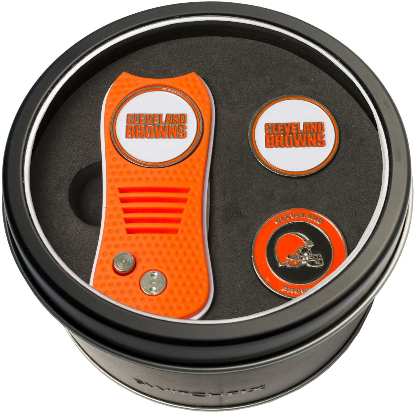 Team Golf Cleveland Browns Switchfix Divot Tool and Ball Markers Set