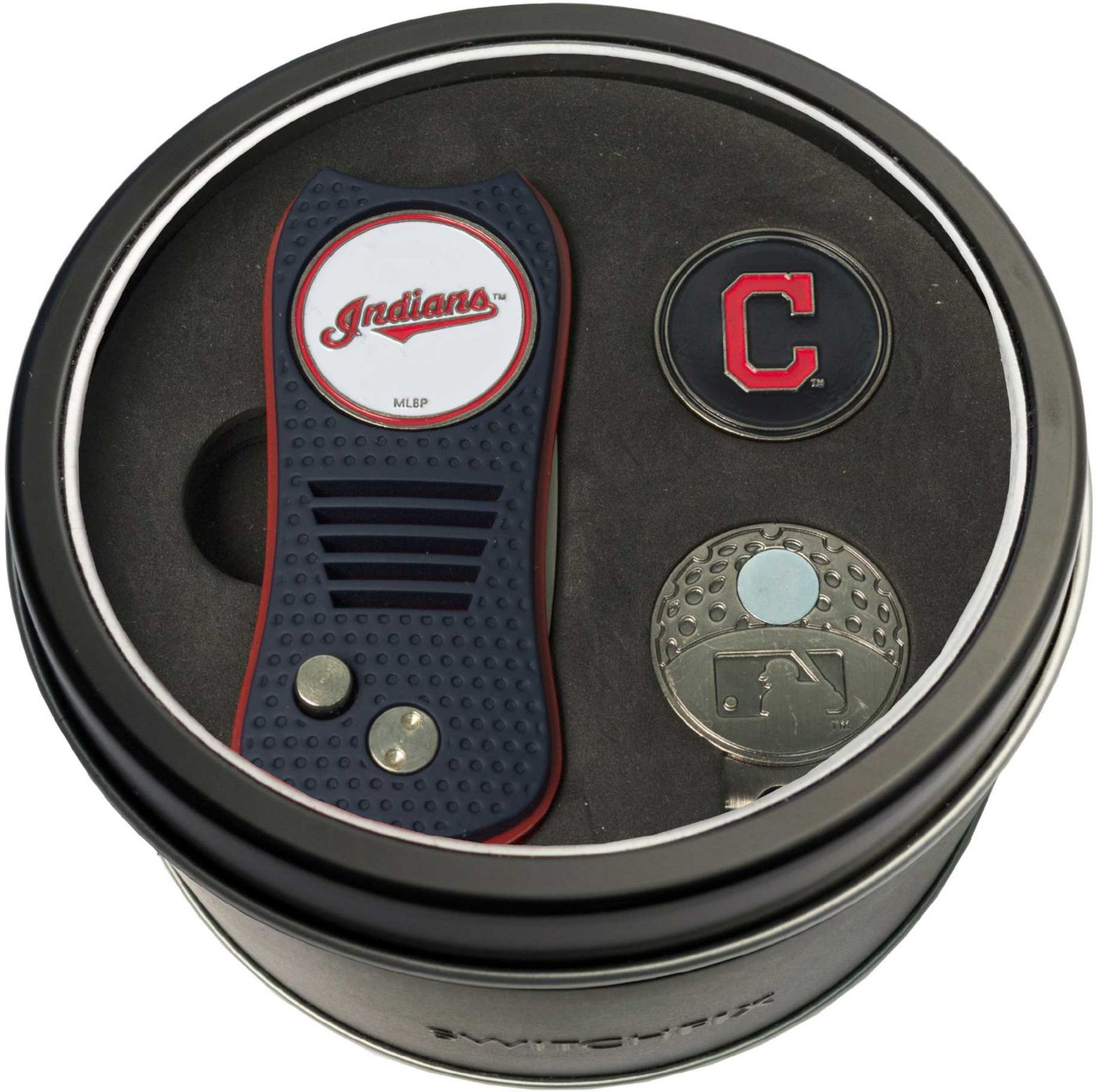 Team Golf Cleveland Indians Switchfix Divot Tool and Cap Clip Set