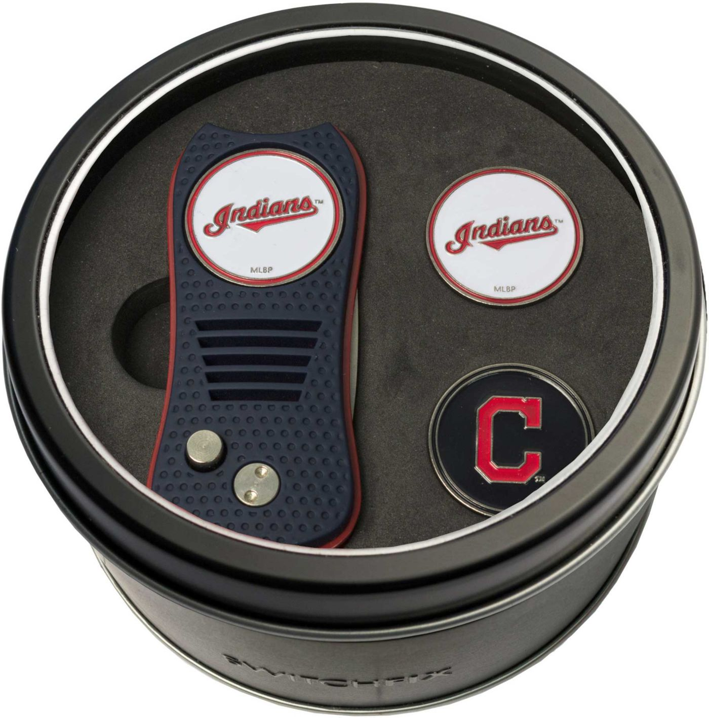 Team Golf Cleveland Indians Switchfix Divot Tool and Ball Markers Set