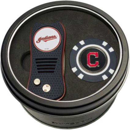 Team Golf Cleveland Indians Switchfix Divot Tool and Poker Chip Ball Marker Set