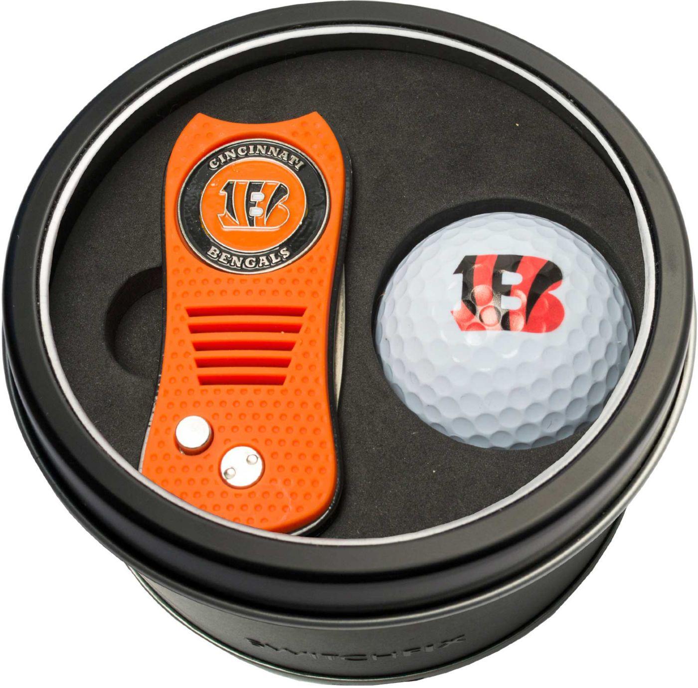 Team Golf Cincinnati Bengals Switchfix Divot Tool and Golf Ball Set