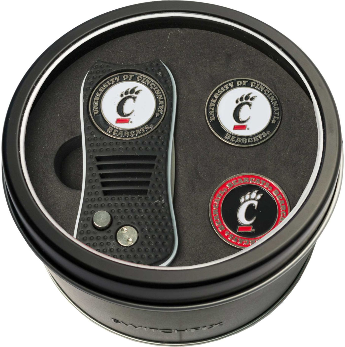 Team Golf Cincinnati Bearcats Switchfix Divot Tool and Ball Markers Set