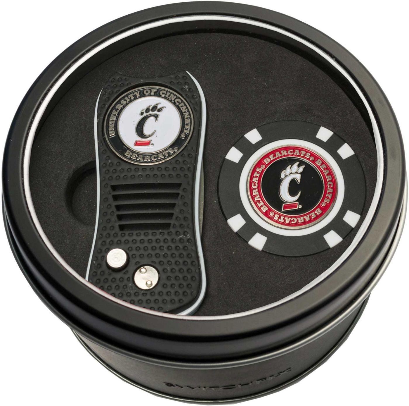 Team Golf Cincinnati Bearcats Switchfix Divot Tool and Poker Chip Ball Marker Set