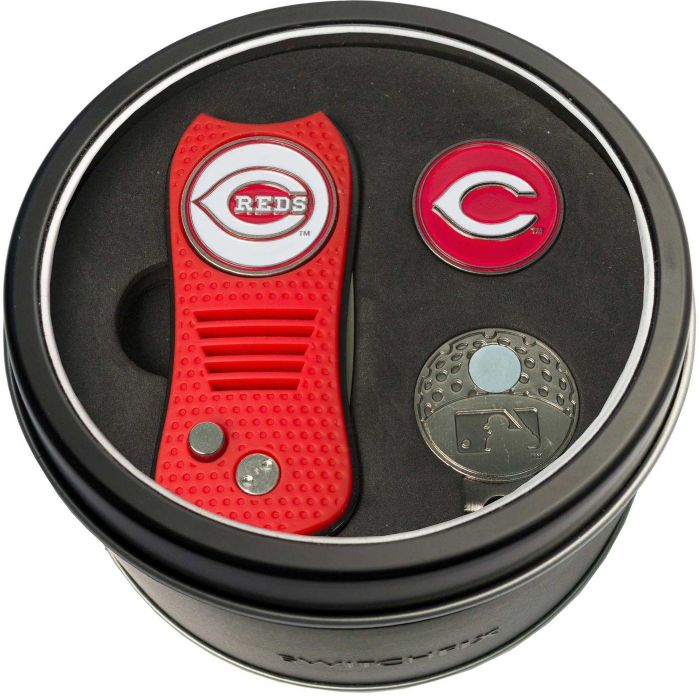 Team Golf Cincinnati Reds Switchfix Divot Tool and Cap Clip Set