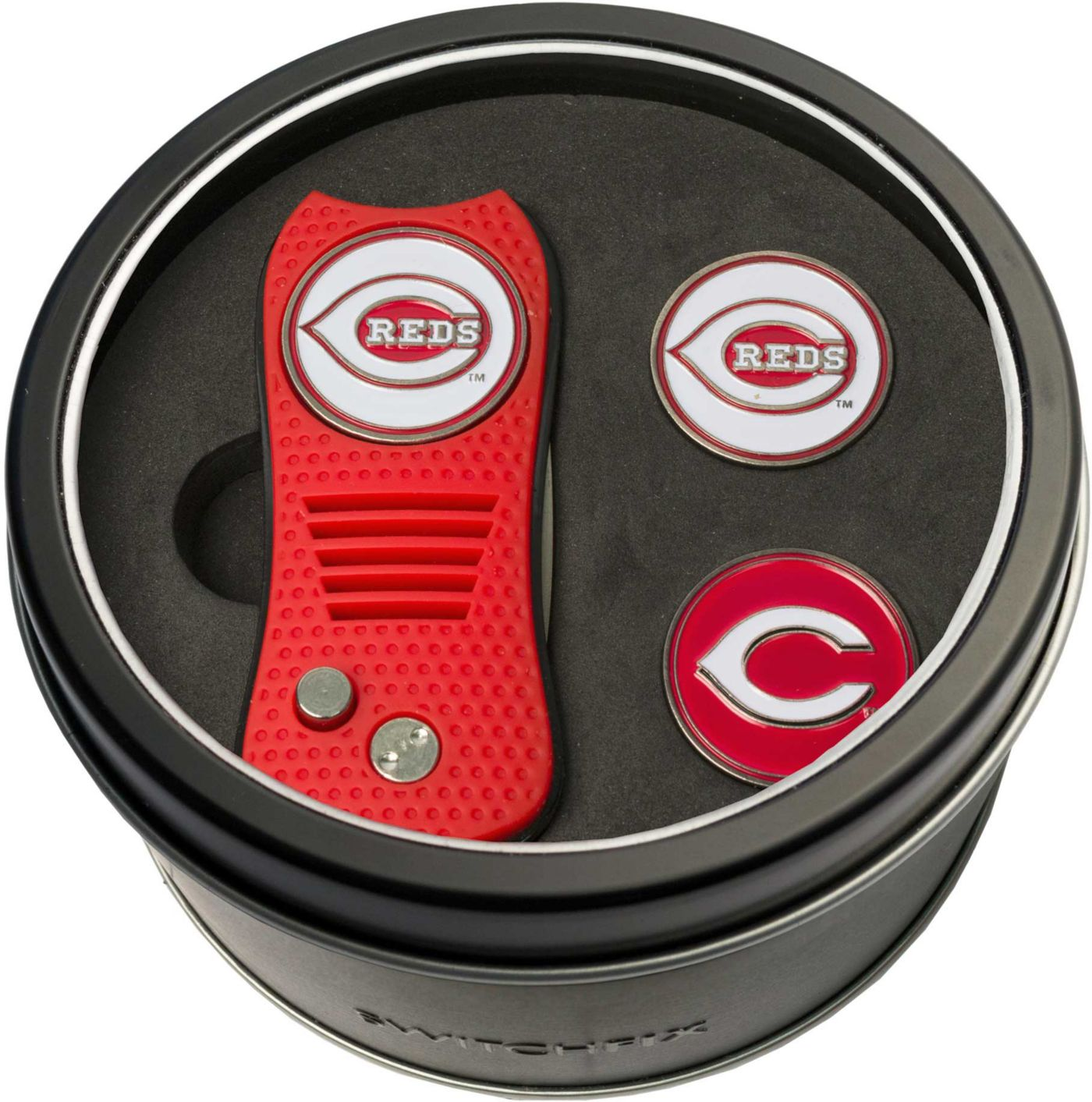 Team Golf Cincinnati Reds Switchfix Divot Tool and Ball Markers Set